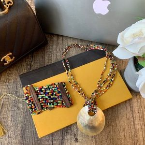 Jewelry - Handmade Beaded Shell Necklace & Bracelet Set
